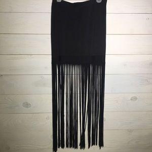 Wet Seal fringe skirt